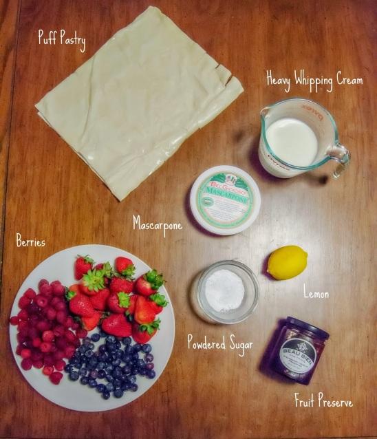 berry pastry with lemon mascarpone cream