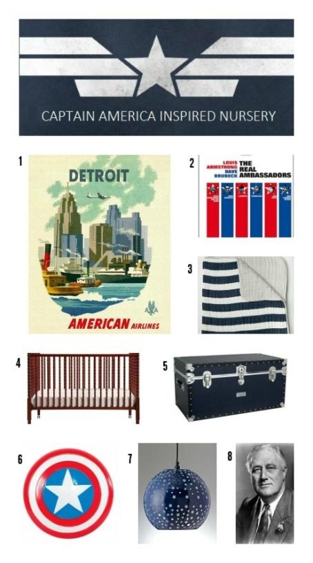 captain america, nursery, baby boy, avengers, 1940s, vintage